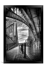 Rochdale canal, Manchester, Framed Print