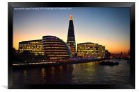 Sunset At The Shard, Framed Print