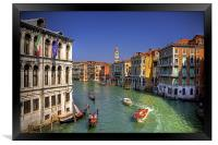 Light Traffic on the Grand Canal, Framed Print