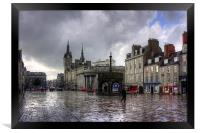 Aberdeen in the rain, Framed Print