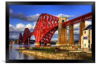 Hawes Pier Slipway and Forth Bridge, Framed Print