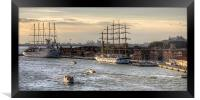 When 4 masts are just not enough, Framed Print