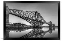 North Queensferry Reflections - B&W, Framed Print