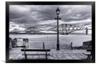 The Boathouse Steps - B&W, Framed Print