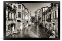 Rio di San Polo - B&W, Framed Print