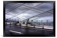 Cable Stays on the Queensferry Crossing, Framed Print