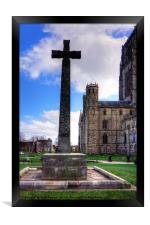 Light Infantry Memorial Cross, Framed Print