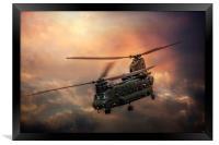 Boeing CH-47 Chinook, Framed Print
