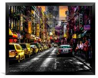 Chinatown Sunset, Framed Print