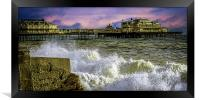 Memories Of The Old West Pier , Framed Print