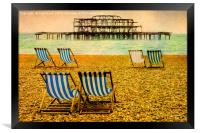 Brighton Beach Paintography, Framed Print