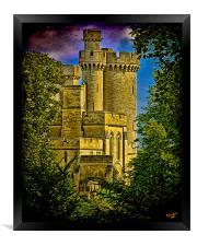 Arundel Castle Through the Trees, Framed Print