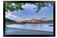 Loch Lomond at Luss From The Beach, Framed Print