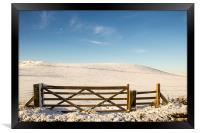 A Winter Gate, Framed Print