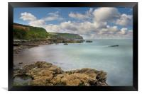 Nare head from Carne beach Roseland Cornwall, Framed Print