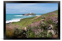 Godrevy lighthouse Cornwall, Framed Print