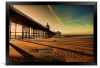 Shadows Of The Pier, Framed Print