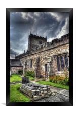 St Michaels on Wyre Church, Framed Print