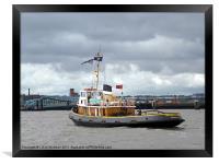 Brocklebank Tugboat, Framed Print
