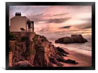 St Catherines Island Tenby, Framed Print