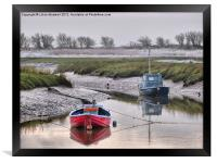 Frosty day at Glasson Dock., Framed Print