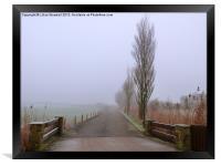 A Foggy Day., Framed Print