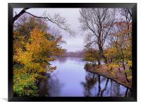 Autumn in the Park, Framed Print