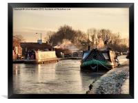 The Frozen Lancaster Canal, Framed Print