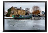 The Frozen Garstang Canal., Framed Print