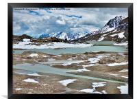 Bernina Pass and Glaciers, Framed Print