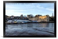 Fishermens Cottages , Conwy. , Framed Print