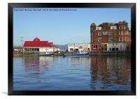 Oban Harbour, Scotland., Framed Print