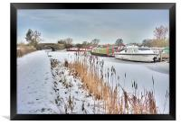 Frozen Lancaster Canal, Framed Print