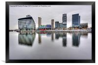Media City Salford Quays, Framed Print