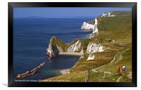 Dorset coastal path., Framed Print
