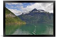 Geiranger Fjords Cruise., Framed Print