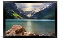Rockey Mountain Lake, Framed Print