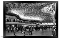 Kings Cross railway station, Framed Print