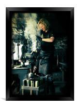 Blacksmith at work, Framed Print