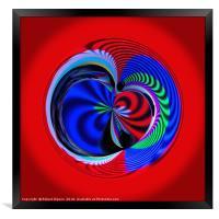 Colours of the sphere, Framed Print