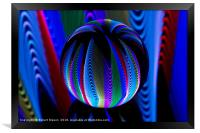 Colours in the crystal ball, Framed Print