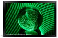 Green in the glass ball, Framed Print
