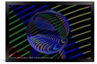 Glass Ball lights, Framed Print