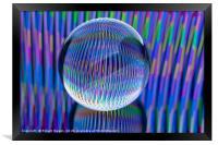lights in the globe, Framed Print