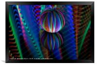 Amazing colours in the glass ball, Framed Print