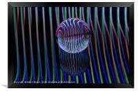Eyes in the glass ball, Framed Print