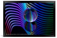 Rainbows in the glass ball., Framed Print