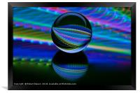 All colours in the glass ball, Framed Print