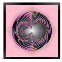 Circle of chaos, Framed Print
