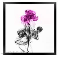 Abstract smoke flower., Framed Print